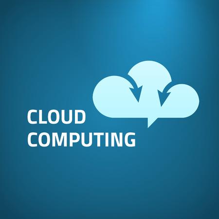 data transfer: Cloud computing icon design template