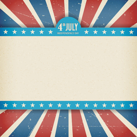Vintage independence 4th July american day poster  Vector illustration  Layered  Illustration
