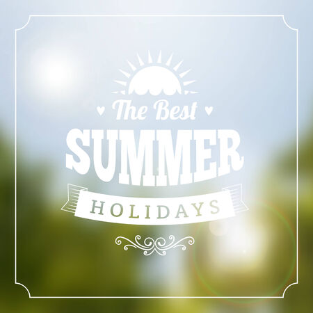 Summer holidays vector typography poster background Vector