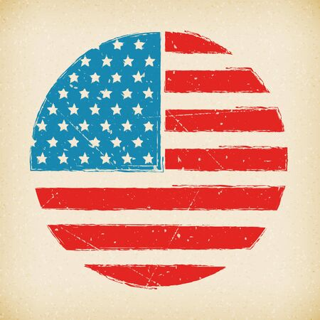 American grunge flag background poster on paper  isolated  向量圖像
