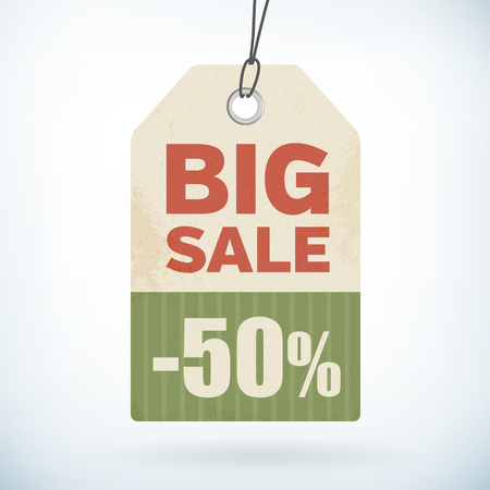 big sale paper price tag isolated from background  layered