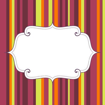 blank birthday poster on seamless stripes pattern background illustration  isolated  Illustration