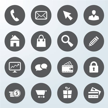 set of business web shop icons  isolated from background
