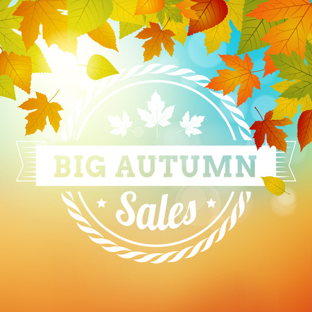big autumn sales business background. layered. isolated Vector