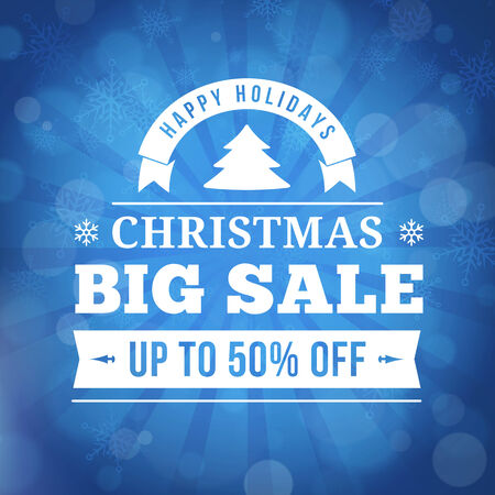 christmas big sale offer poster vector background. Vector