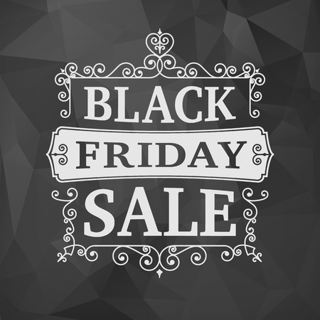 black line: Black friday sale business vector vintage background. isolated from background. layered.