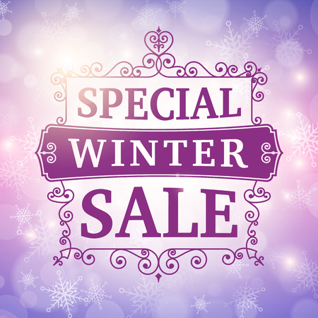 winter special sale offer poster vector background. Vector
