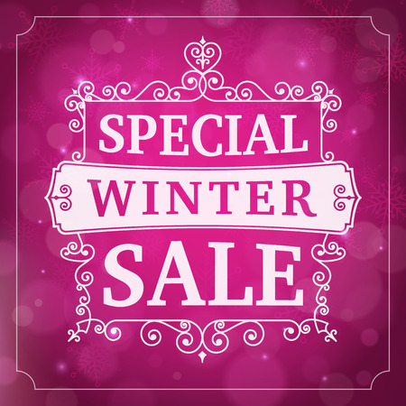 winter special sale offer business poster vector background. Vector