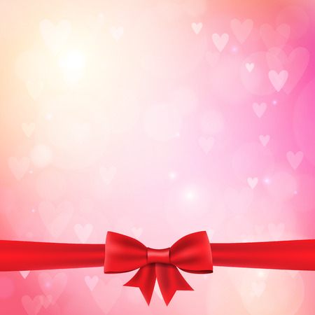 wedding bokeh background with ribbon bow