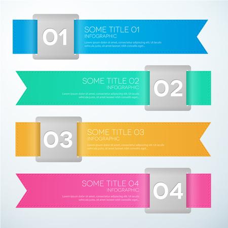 business infographic timeline option vector colorful illustration