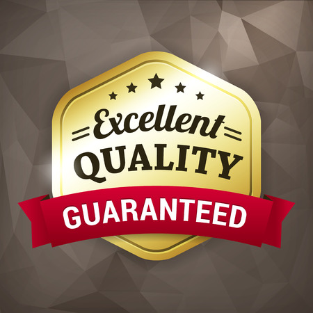 excellent quality business gold vector label on crumple paper. isolated from background.