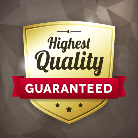 highest: highest quality business gold vector label on crumple paper. isolated from background.
