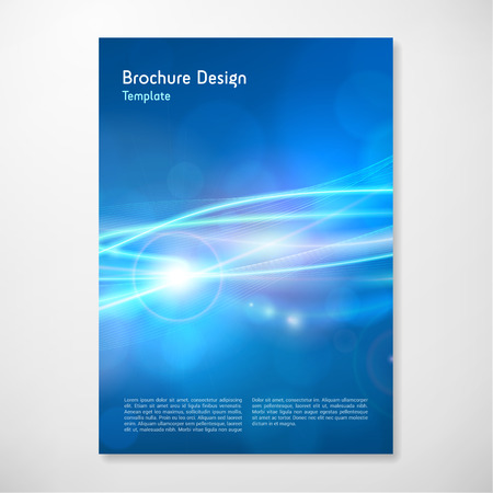 Modern Vector abstract lights brochure report design template. layered. Stock Illustratie