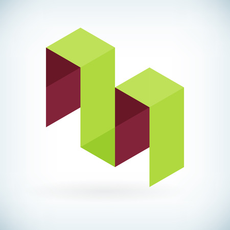 Modern letter M icon flat design element template. isolated.