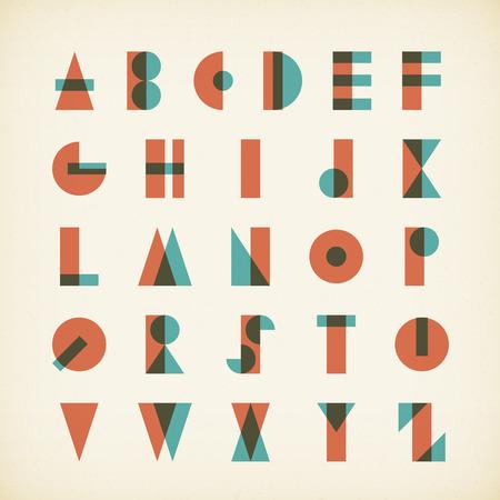 vintage alphabet typography font on textured paper. vector design.