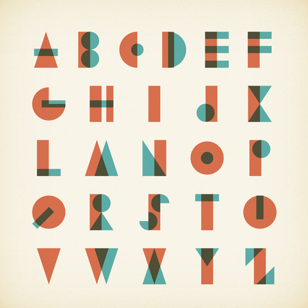 advertising logo: vintage alphabet typography font on textured paper. vector design.