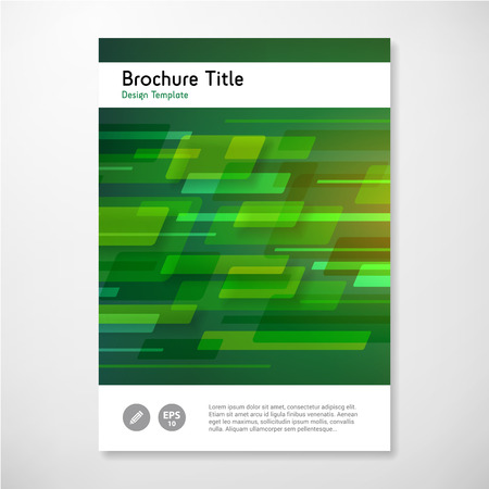Modern Vector abstract brochure report design template. layered.