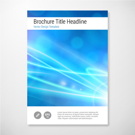 magazine page: Modern Vector abstract lights brochure report design template. layered. Illustration