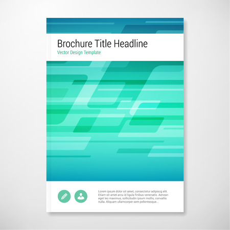 book page: Modern Vector abstract shape blue and green brochure report design template. layered.