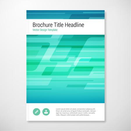 Modern Vector abstracte vorm blauw en groen brochure rapport design template. gelaagd. Stock Illustratie