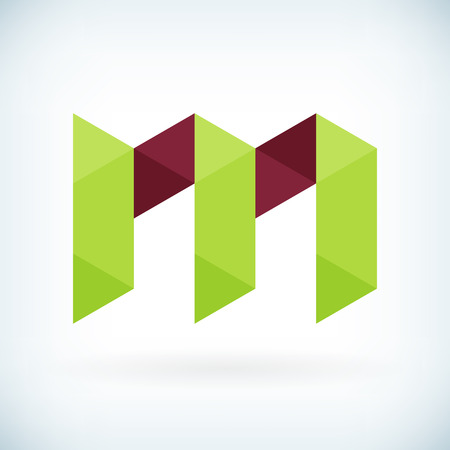 Modern letter M icon flat design element template. isolated. Vector