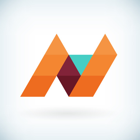 Modern letter N icon flat design element template. isolated.  イラスト・ベクター素材