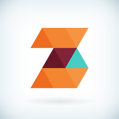 Modern letter Z icon flat design element template. isolated. Vector
