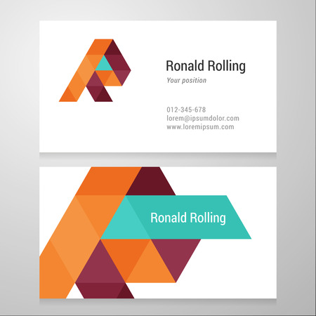 business letter: Modern letter R Business card template. Vector design. Layered, editable.
