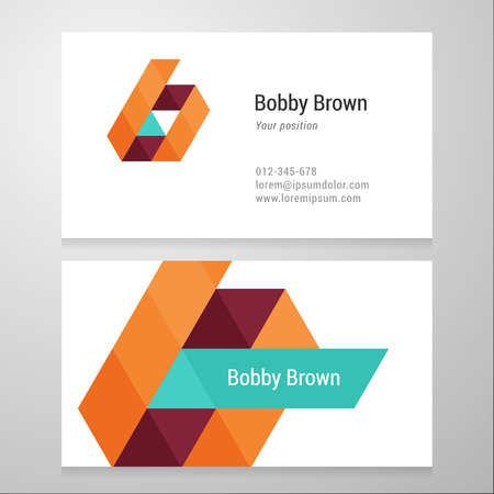 Modern letter B Business card template. Vector design. Layered, editable. Vector