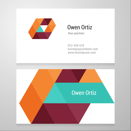 o letters: Modern letter O Business card template. Vector design. Layered, editable.