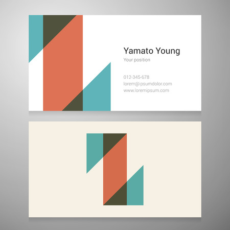 Modern letter Z icon business card template. Vector design. Layered editable. Illustration