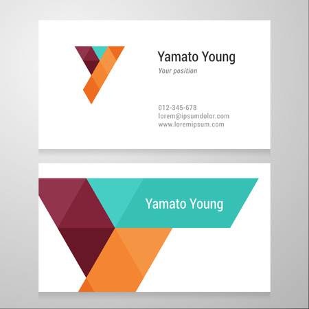 layered: Modern letter Y Business card template. Vector design. Layered editable. Illustration