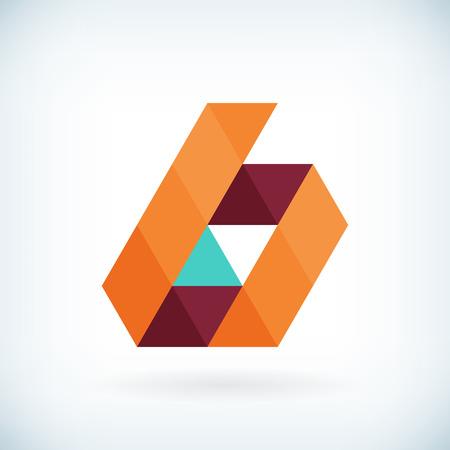 papier a lettre: Moderne lettre B ic�ne design plat �l�ment mod�le. isol�. Illustration