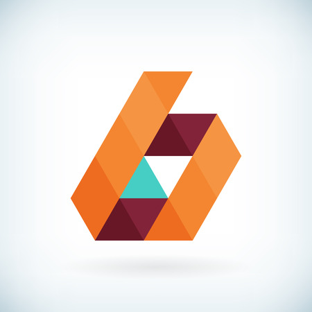 Modern letter B icon flat design element template. isolated.