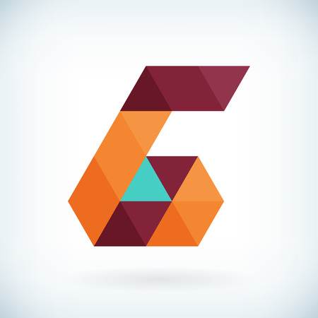 Modern letter G icon flat design element template. isolated.  イラスト・ベクター素材