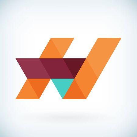 papier a lettre: Moderne lettre H icône design plat élément modèle. isolé. Illustration