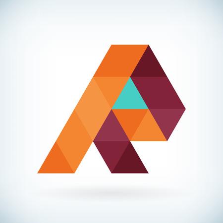 abecedario: Modern R icono carta dise�o plano plantilla de elemento. aislado. Vectores