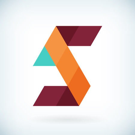 geometric design: Modern letter S icon flat design element template. isolated.