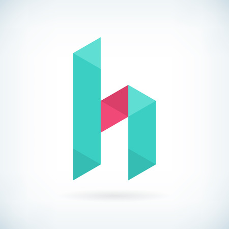h: Modern letter H icon flat design element template. isolated.