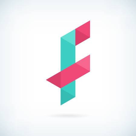 letter f: Modern letter F icon flat design element template. isolated.