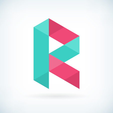 r: Modern letter R icon flat design element template. isolated.