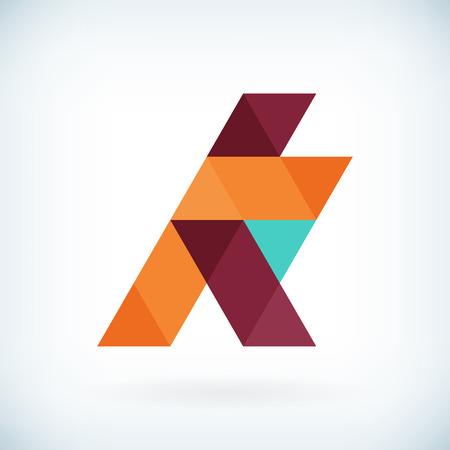 papier a lettre: Moderne lettre K ic�ne design plat �l�ment mod�le. isol�.