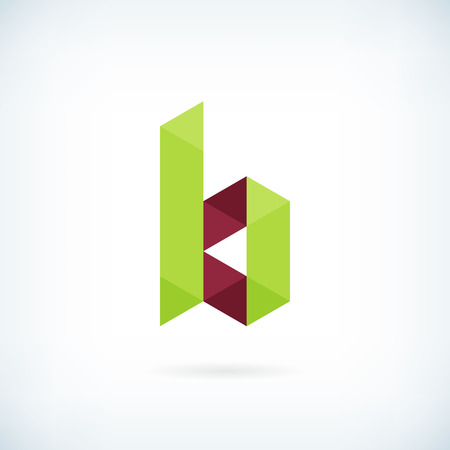 letter b: Modern letter B icon flat design element template. isolated.