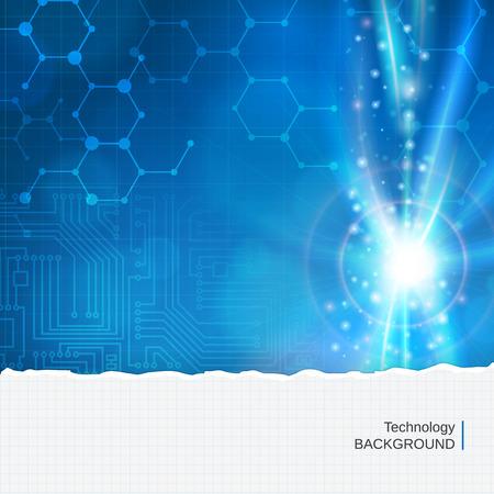 Abstracte technologie chemiemolecule vector achtergrond. gelaagd. Stock Illustratie