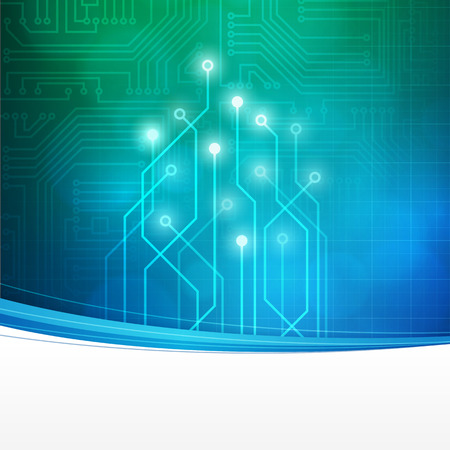 lab: Abstract technology circuit board vector background. layered.