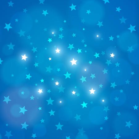 himmel hintergrund: Zusammenfassung blauem Hintergrund Nachthimmel mit Sternen. Vektor-Illustration. Layered.