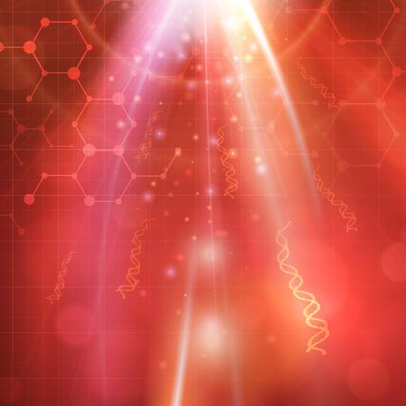 Abstracte medische biotechnologie DNA chemiemolecule vector achtergrond. gelaagd.
