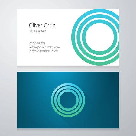 Design icon letter O Business card template. Layered editable.  イラスト・ベクター素材
