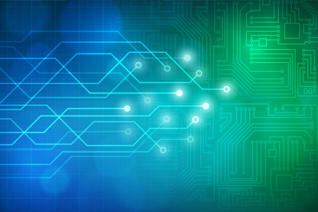 Abstract technology circuit board vector background. layered.