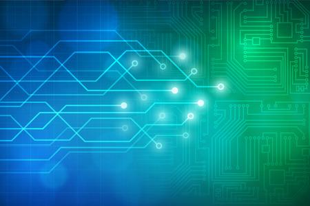 Abstracte technologie circuit bord vector achtergrond. gelaagd. Stock Illustratie